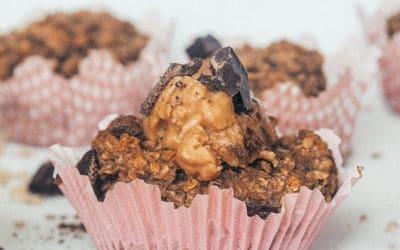 Vegan Banana Oatmeal Muffins – Healthy Breakfast