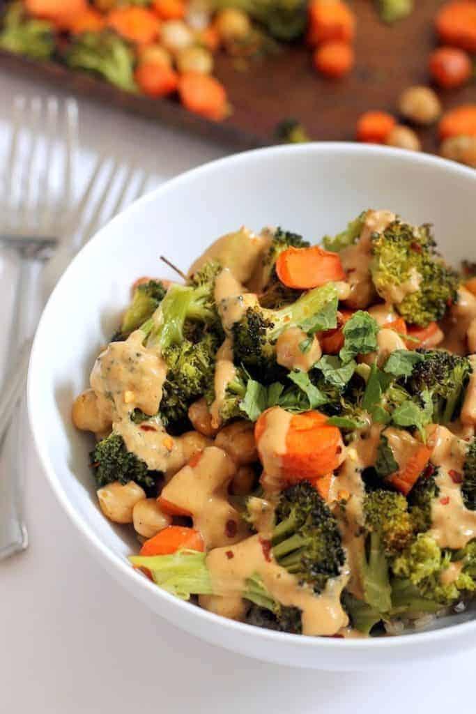 Chickpea Broccoli Bowl